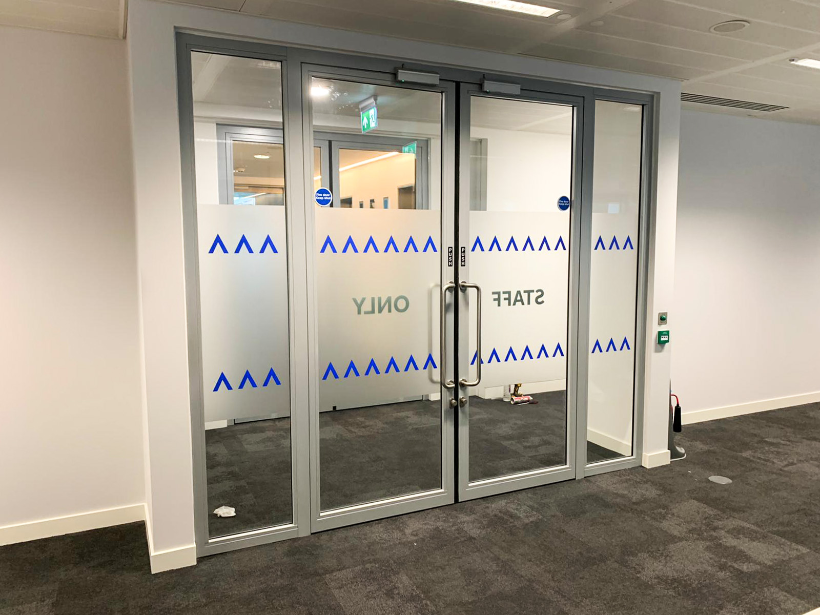 Fire Rated Steel double doors system